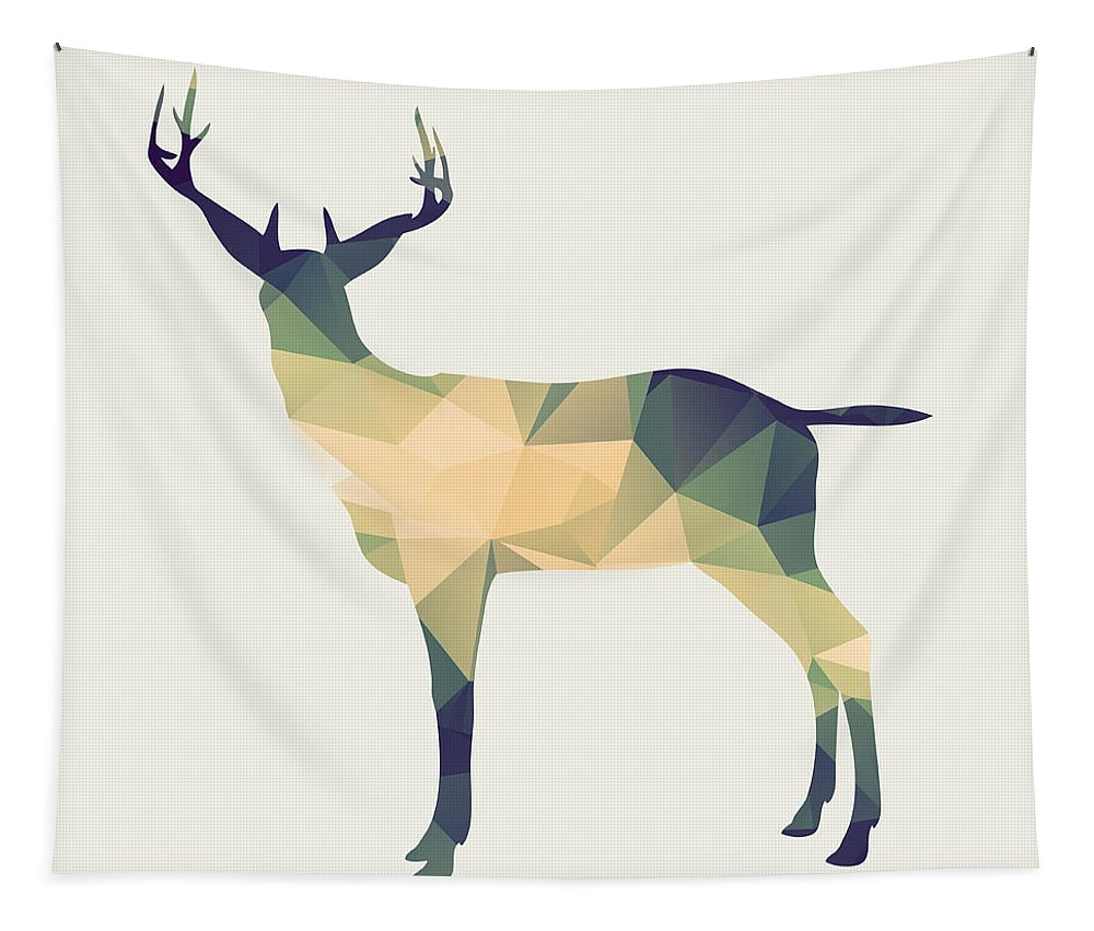 Deer Tapestry featuring the digital art Le Cerf by Zapista OU