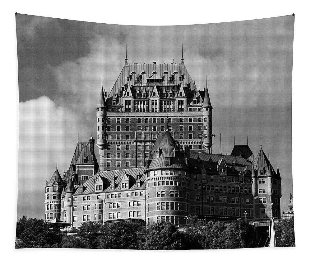 North America Tapestry featuring the photograph Le Chateau Frontenac - Quebec City by Juergen Weiss