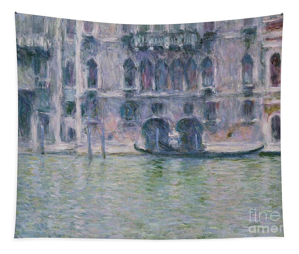 Claude Tapestry featuring the painting Le Palais Da Mula by Claude Monet