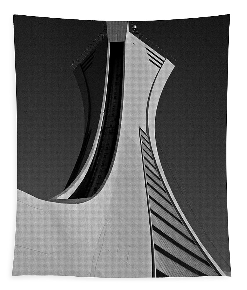 North America Tapestry featuring the photograph Le Stade Olympique De Montreal by Juergen Weiss