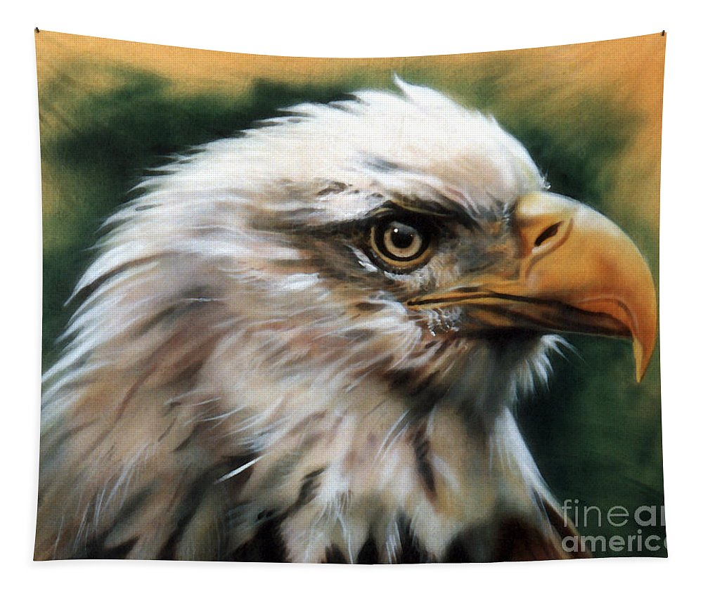 Southwest Art Tapestry featuring the painting Leather Eagle by J W Baker