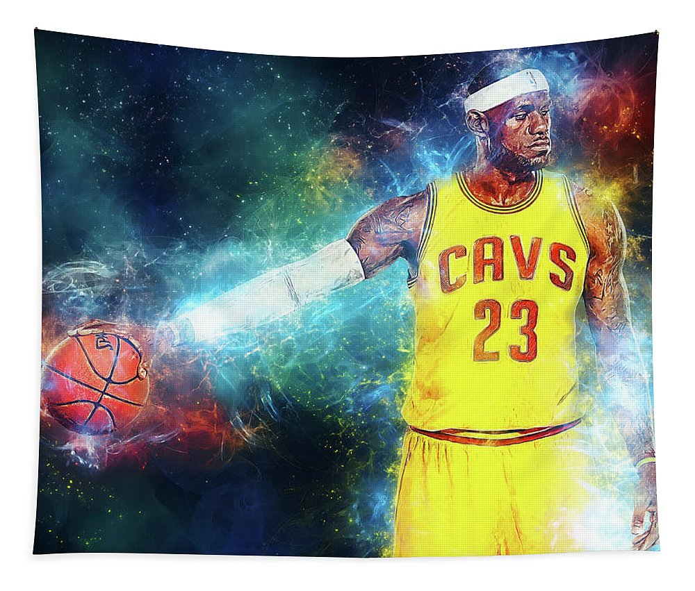 Lebron James Tapestry featuring the digital art Lebron James by Zapista Zapista