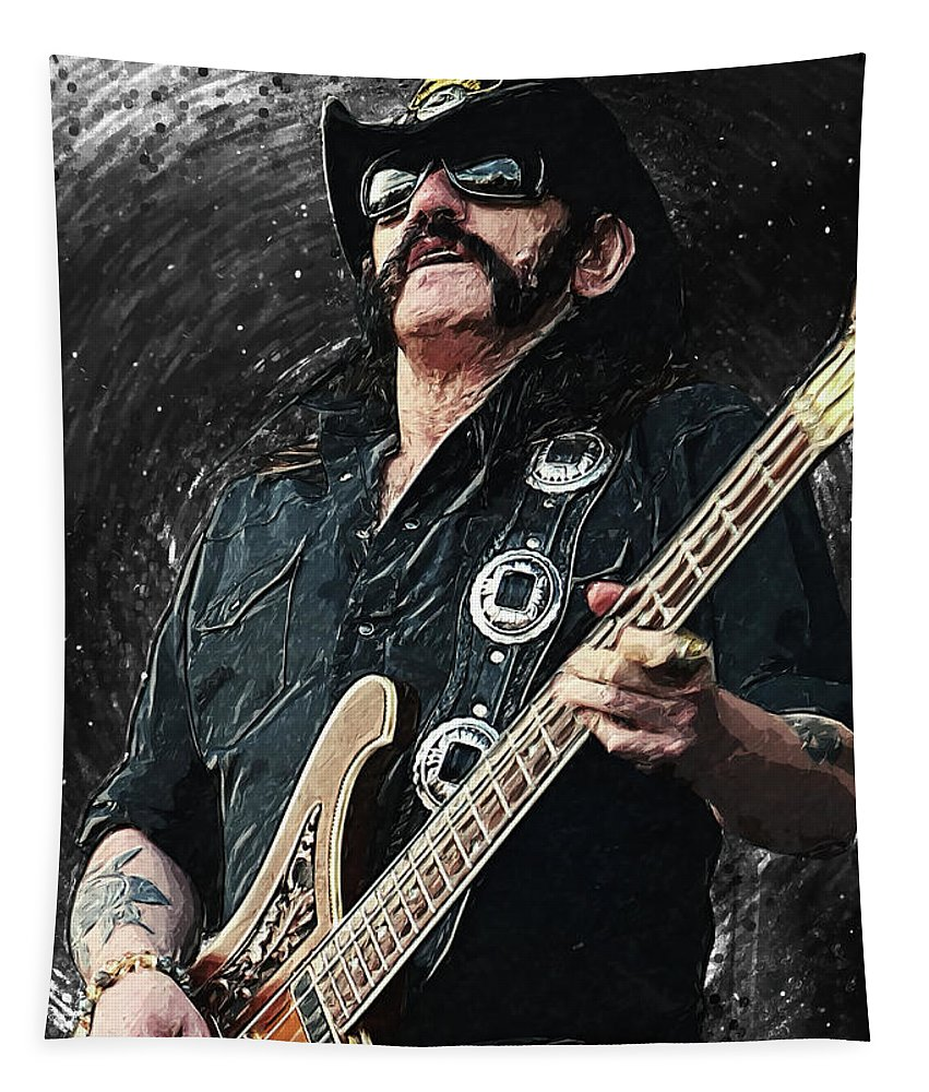 Lemmy Tapestry featuring the digital art Lemmy by Zapista OU