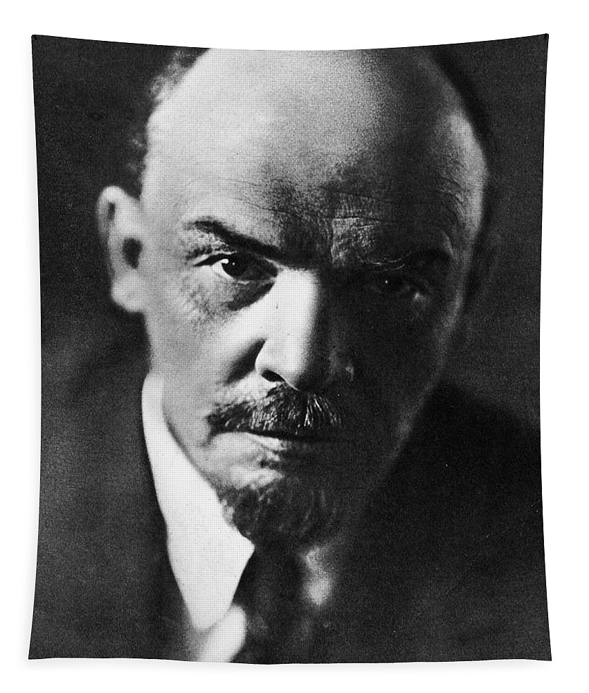 Lenin Tapestry featuring the photograph Lenin by Russian School