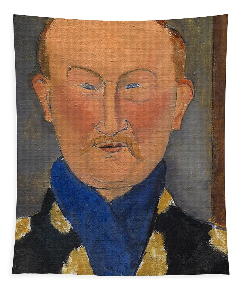 Amedeo Modigliani Tapestry featuring the painting Leon Bakst by Amedeo Modigliani