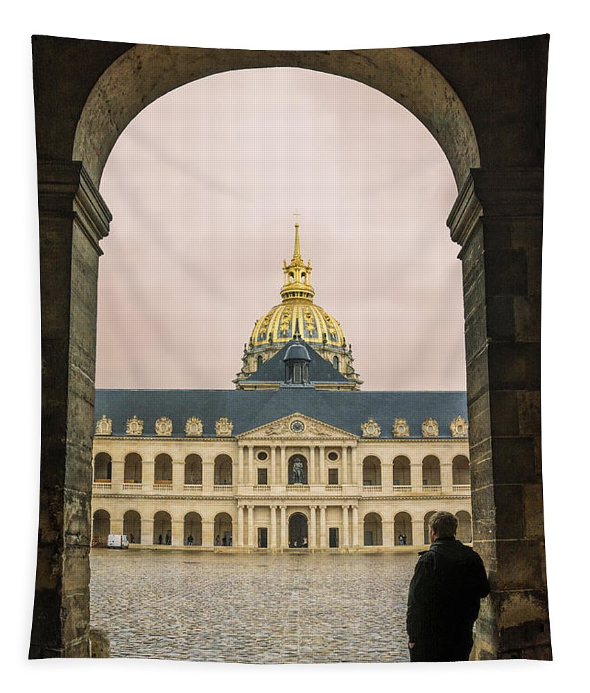 Joan Carroll Tapestry featuring the photograph Les Invalides Paris by Joan Carroll