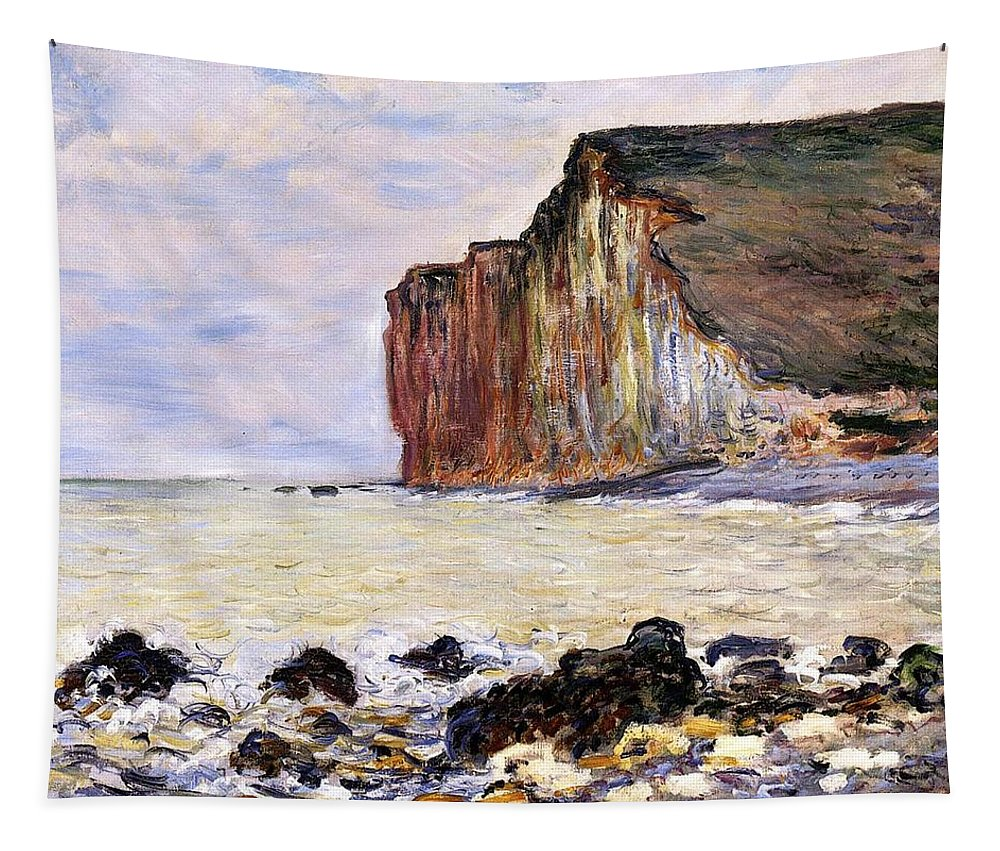 French Tapestry featuring the painting Les Petites Dalles by Claude Monet