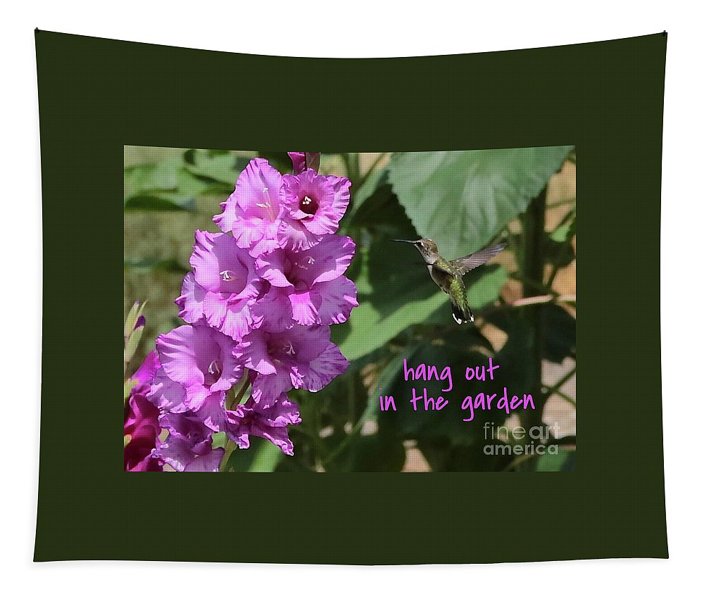Lessons From Nature Tapestry featuring the photograph Lessons From Nature - Hang Out In The Garden by Carol Groenen