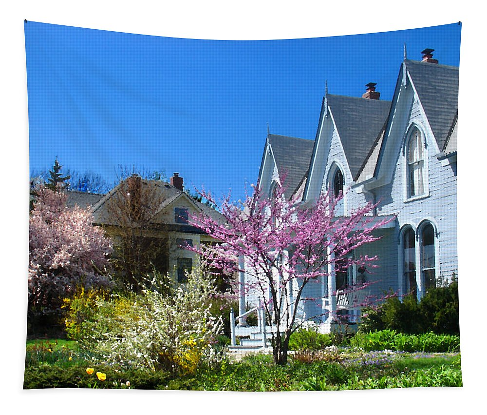 Landscape Tapestry featuring the photograph Liberty Carpenter Gothic by Steve Karol