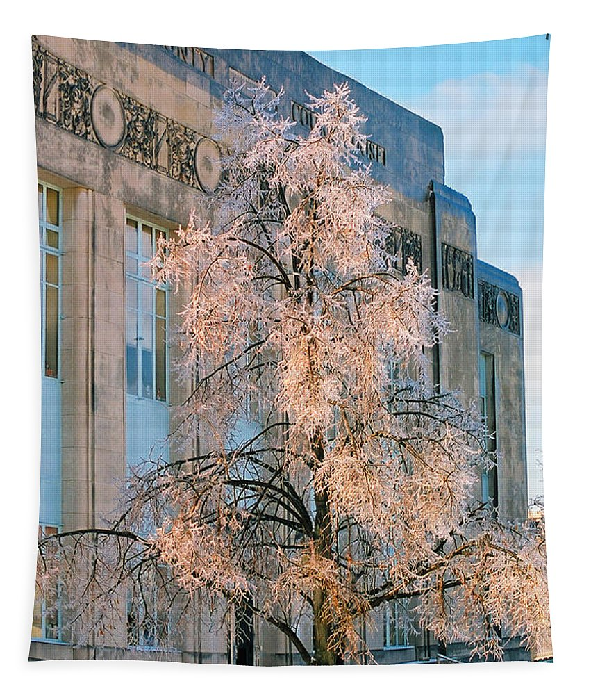 Architecture Tapestry featuring the photograph Liberty Court House by Steve Karol