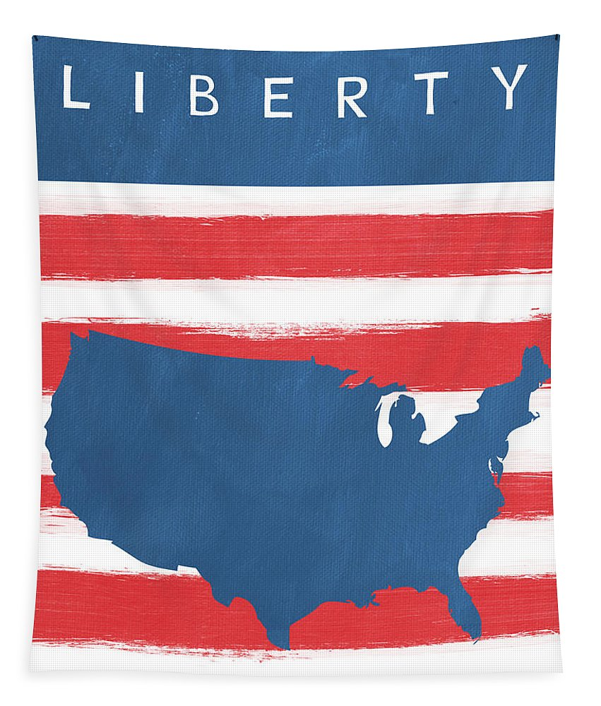 Liberty Tapestry featuring the painting Liberty by Linda Woods
