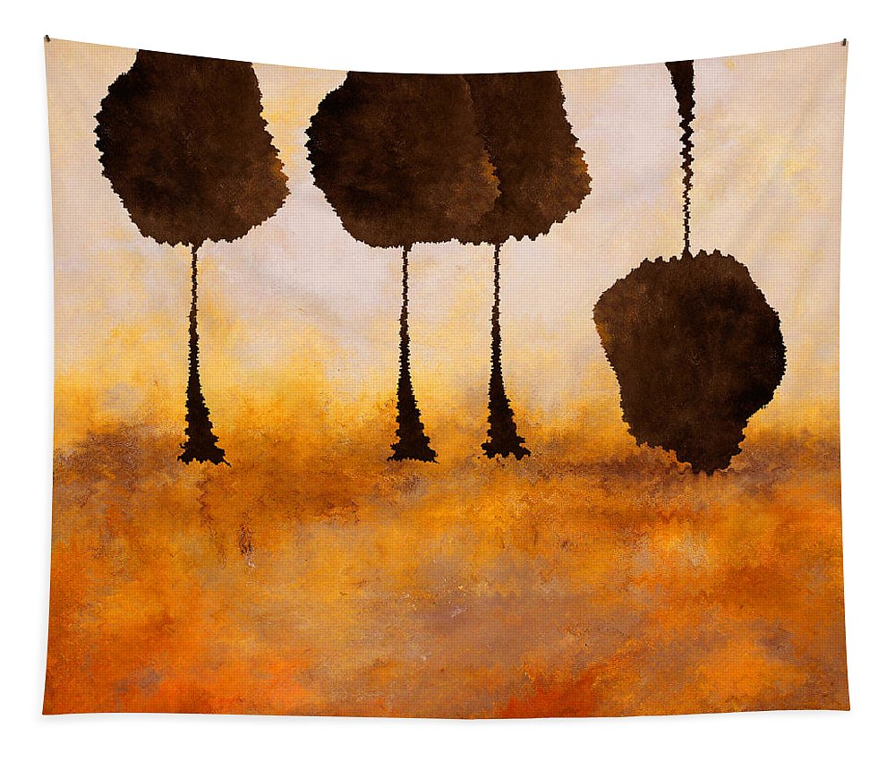 Abstract Tapestry featuring the mixed media Life Has It's Ups And Downs by Ruth Palmer