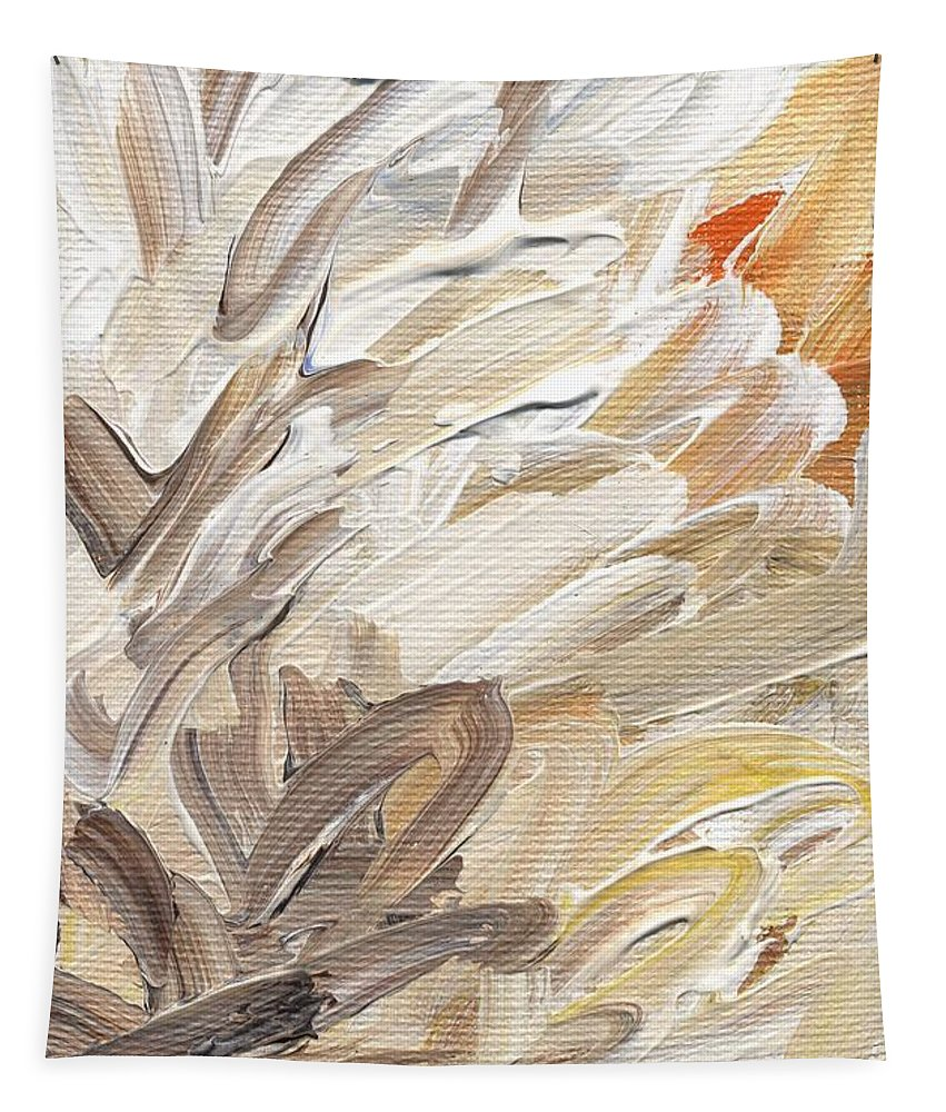 Abstract Tapestry featuring the painting Life Imagined by Linda Mears