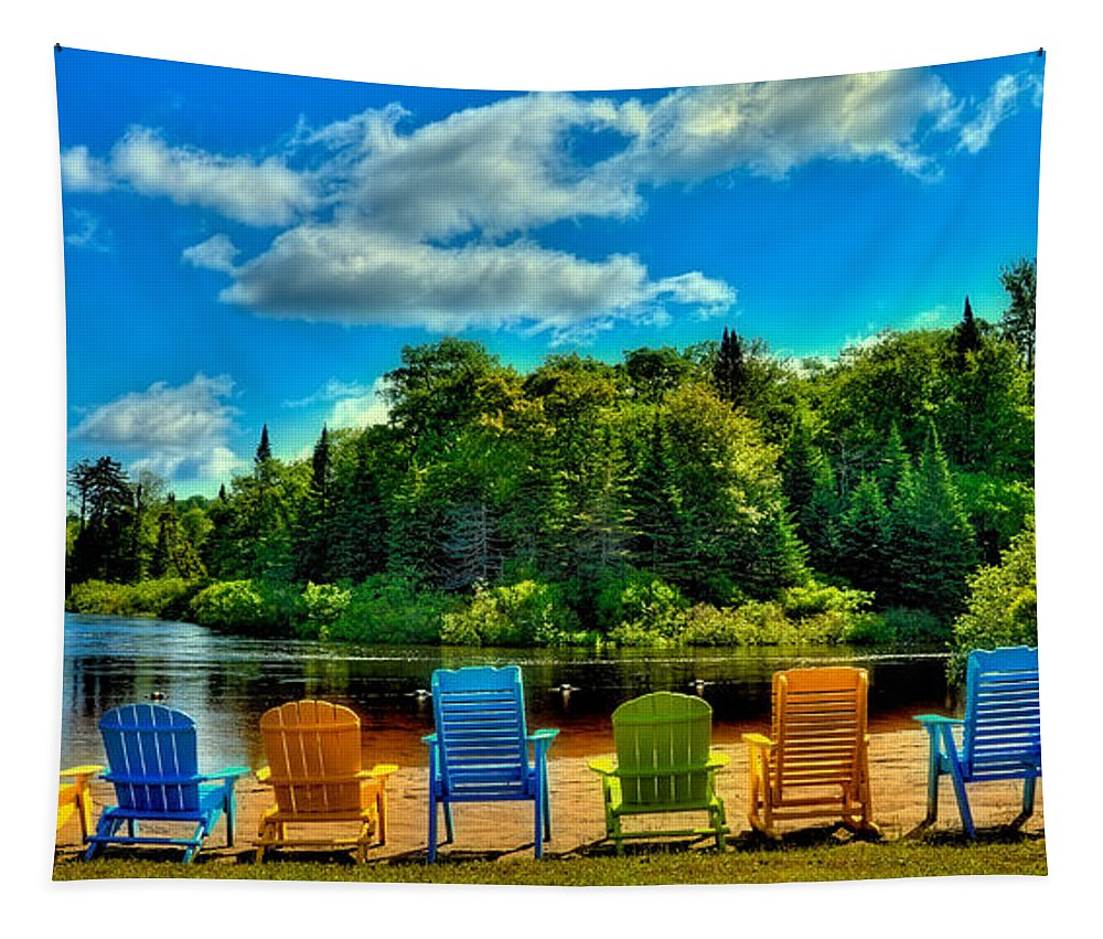 Life In The Adirondack Mountains Tapestry featuring the photograph Life In The Adirondack Mountains by David Patterson