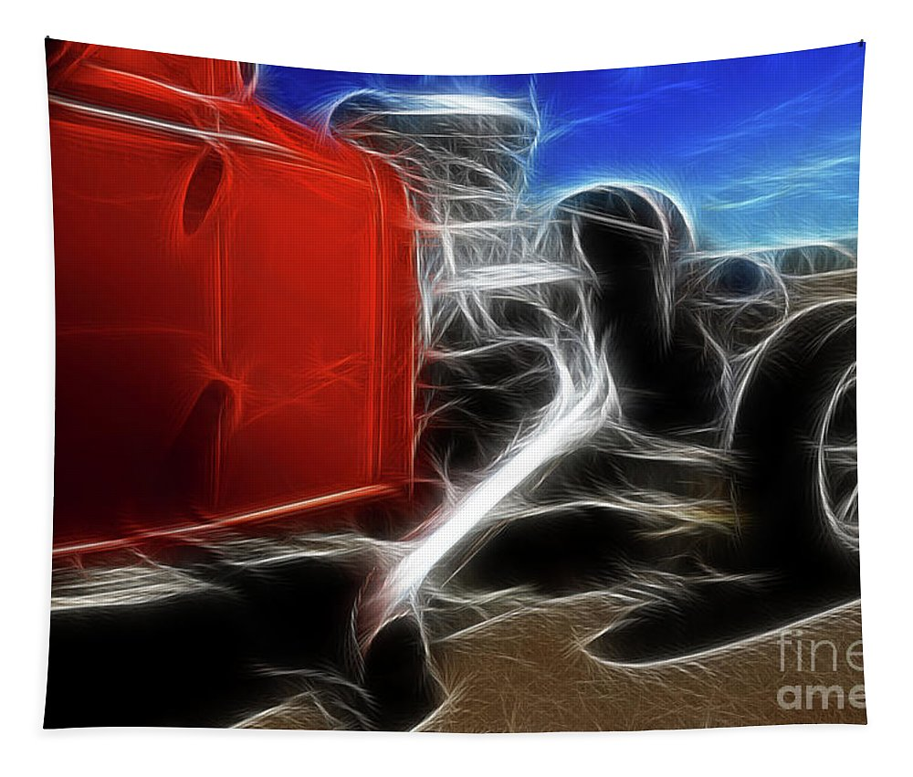 Car Tapestry featuring the photograph Life In The Fast Lane by Bob Christopher