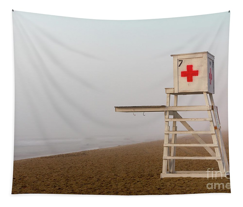 Beach Tapestry featuring the photograph Lifeguard Chair by Jerry Fornarotto
