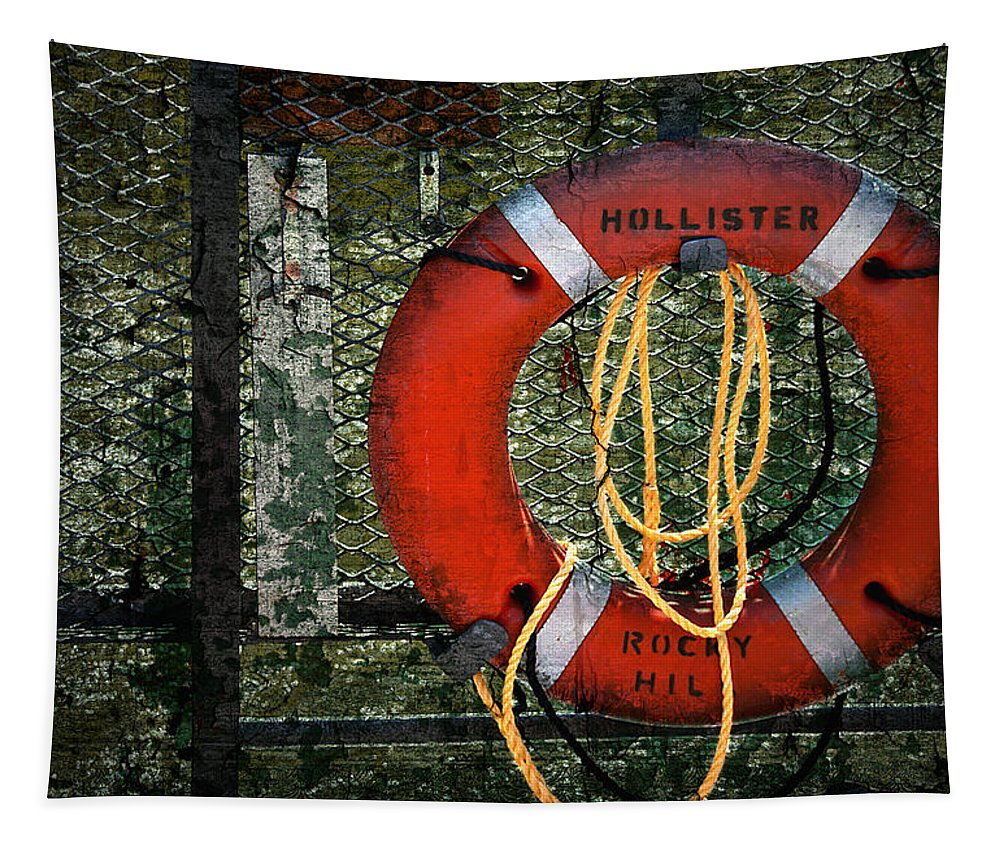 Lifesaver Tapestry featuring the photograph Lifesaver by Evelina Kremsdorf