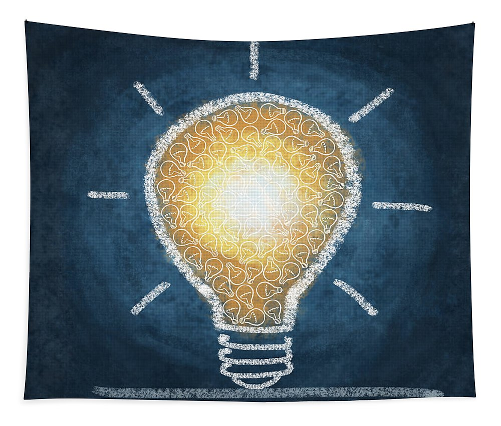Art Tapestry featuring the photograph Light Bulb Design by Setsiri Silapasuwanchai