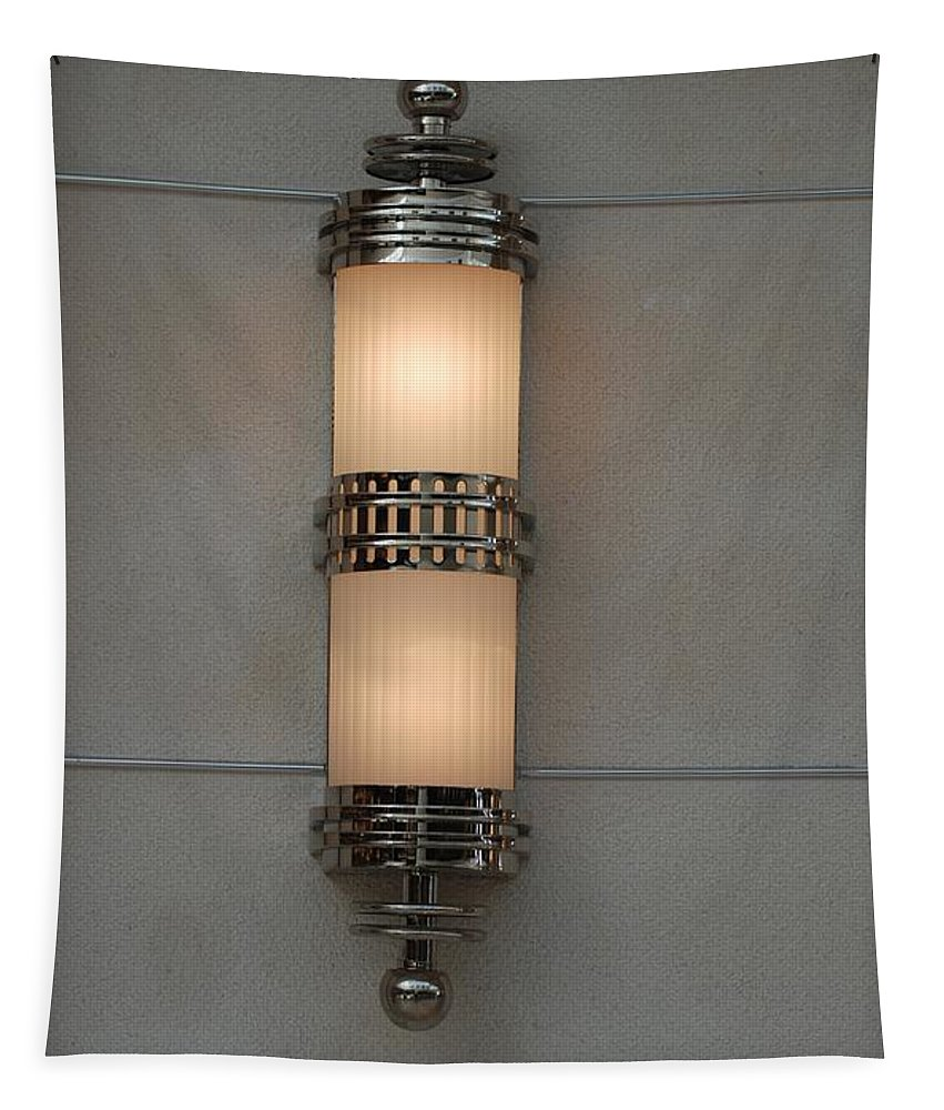 Sconce Tapestry featuring the photograph Lighted Wall Sconce by Rob Hans
