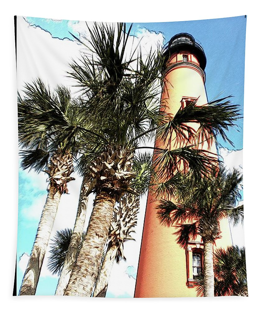 Alicegipsonphotographs Tapestry featuring the photograph Lighthouse Palms by Alice Gipson