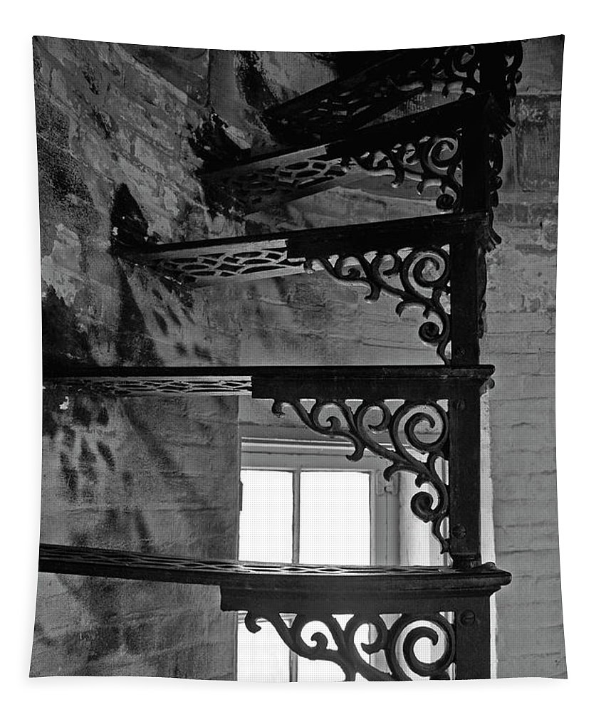 Lighthouse Tapestry featuring the photograph Lighthouse Stairs by Barbara Treaster