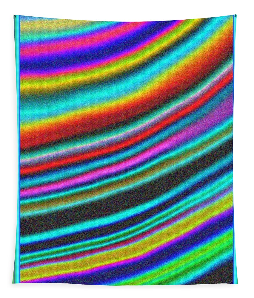 Rainbow Tapestry featuring the digital art Like Sands Through Time by Debra Lynch