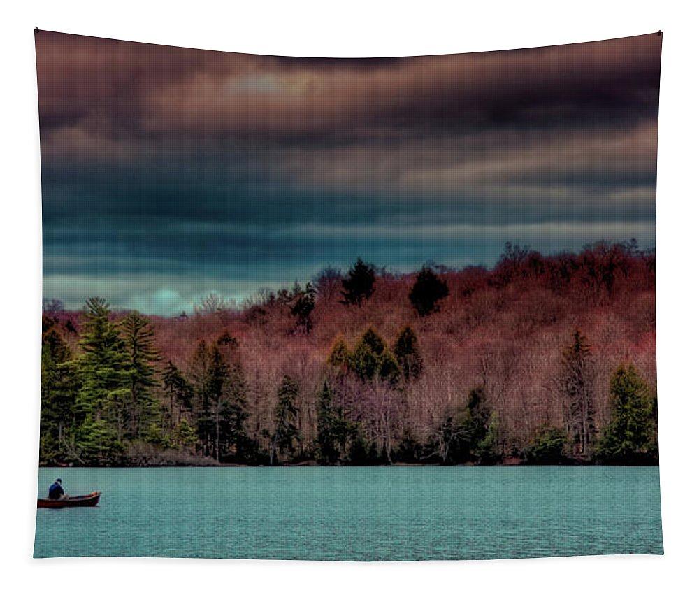 Limekiln Lake Tapestry featuring the photograph Limekiln Lake by David Patterson