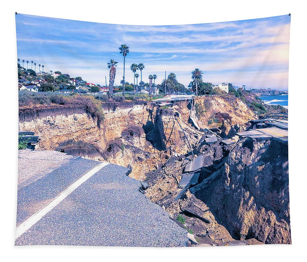 Road Out Tapestry featuring the photograph Limited Beach Access by Dominic Piperata
