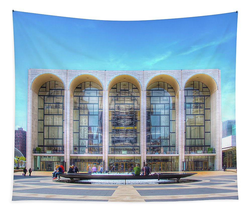 Lincoln Center Tapestry featuring the photograph Lincoln Center by Mark Andrew Thomas