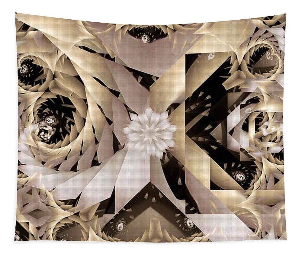 Abstract Tapestry featuring the digital art Linen and Silk by Ron Bissett