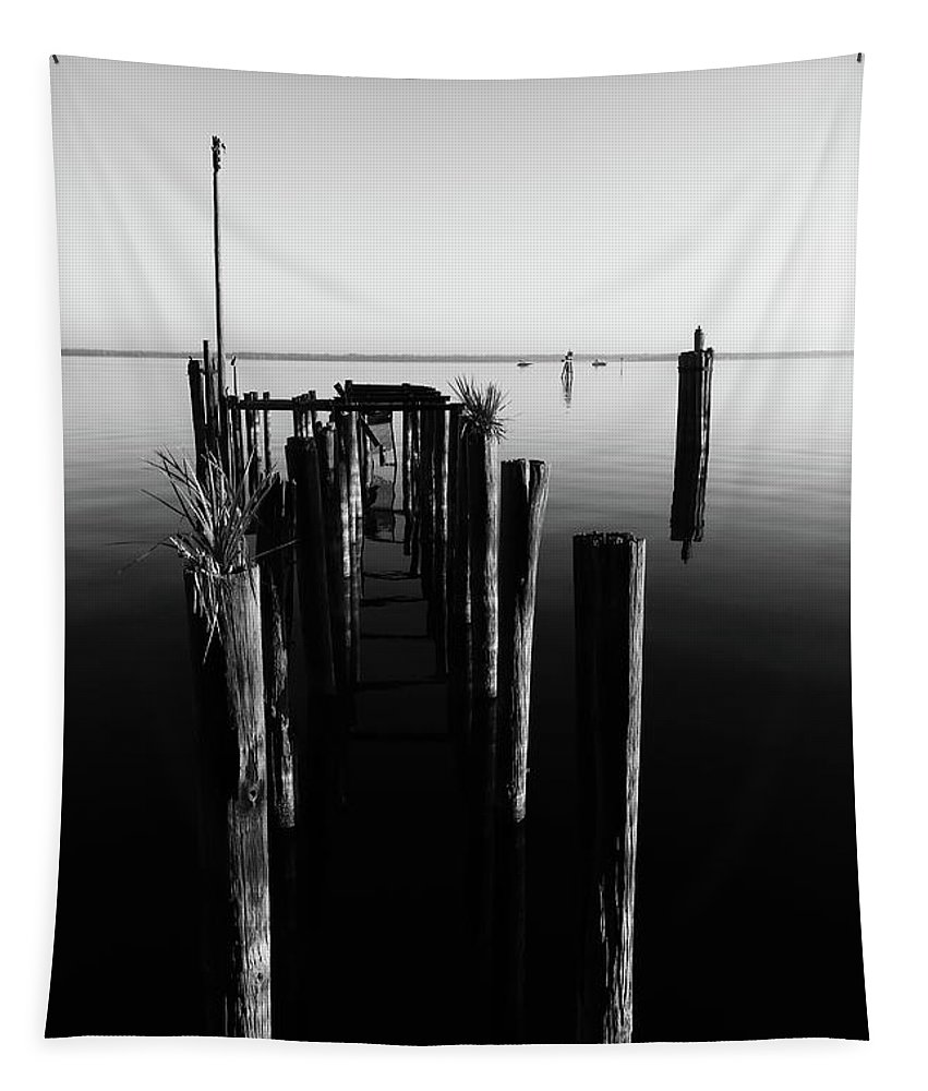 Water Tapestry featuring the photograph Lines And Shadows by Deborah Benoit