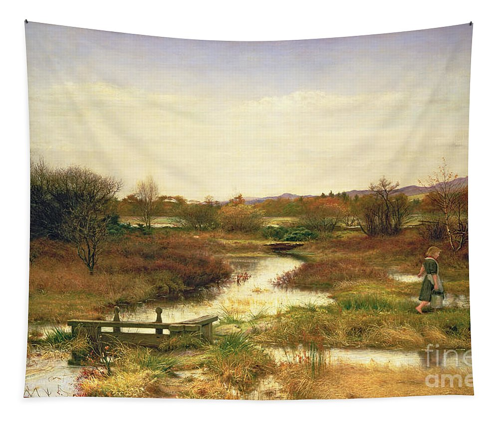 Lingering Autumn Tapestry featuring the painting Lingering Autumn by Sir John Everett Millais