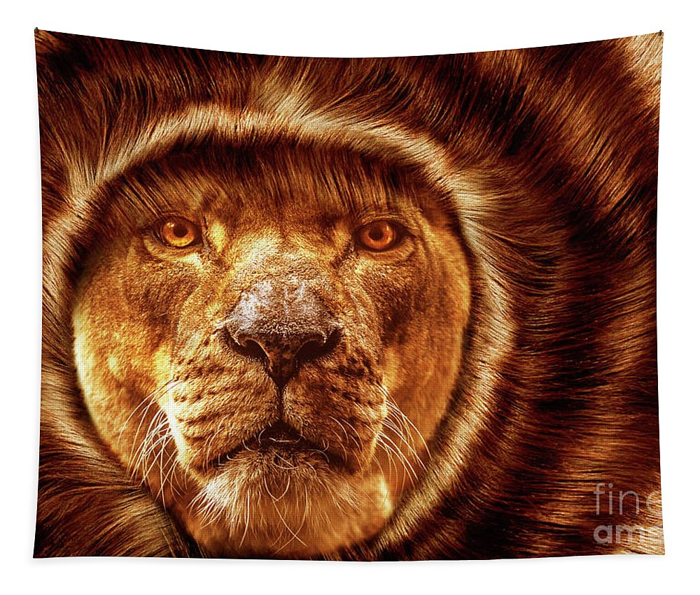 Nature Tapestry featuring the photograph Lion Lady  -1 by Prar Kulasekara