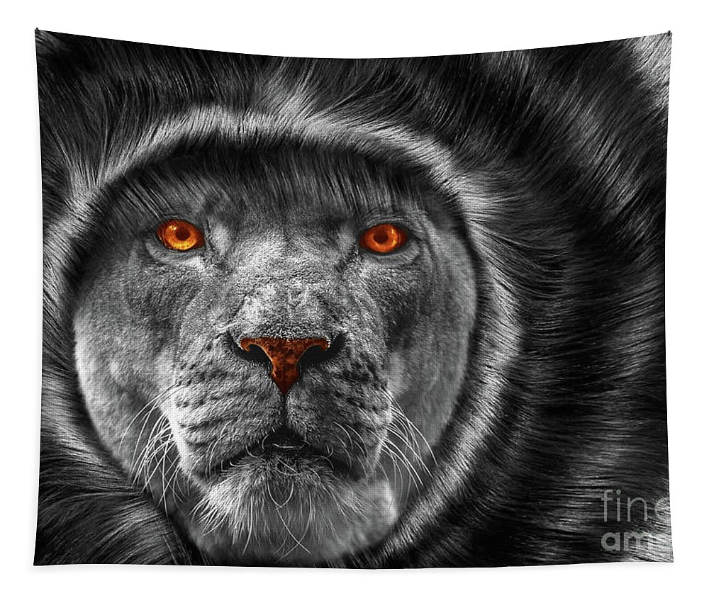Nature Tapestry featuring the photograph Lion Lady  -3 by Prar Kulasekara