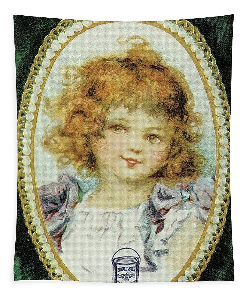 Frances Brundage Tapestry featuring the painting Little Girl by Reynold Jay