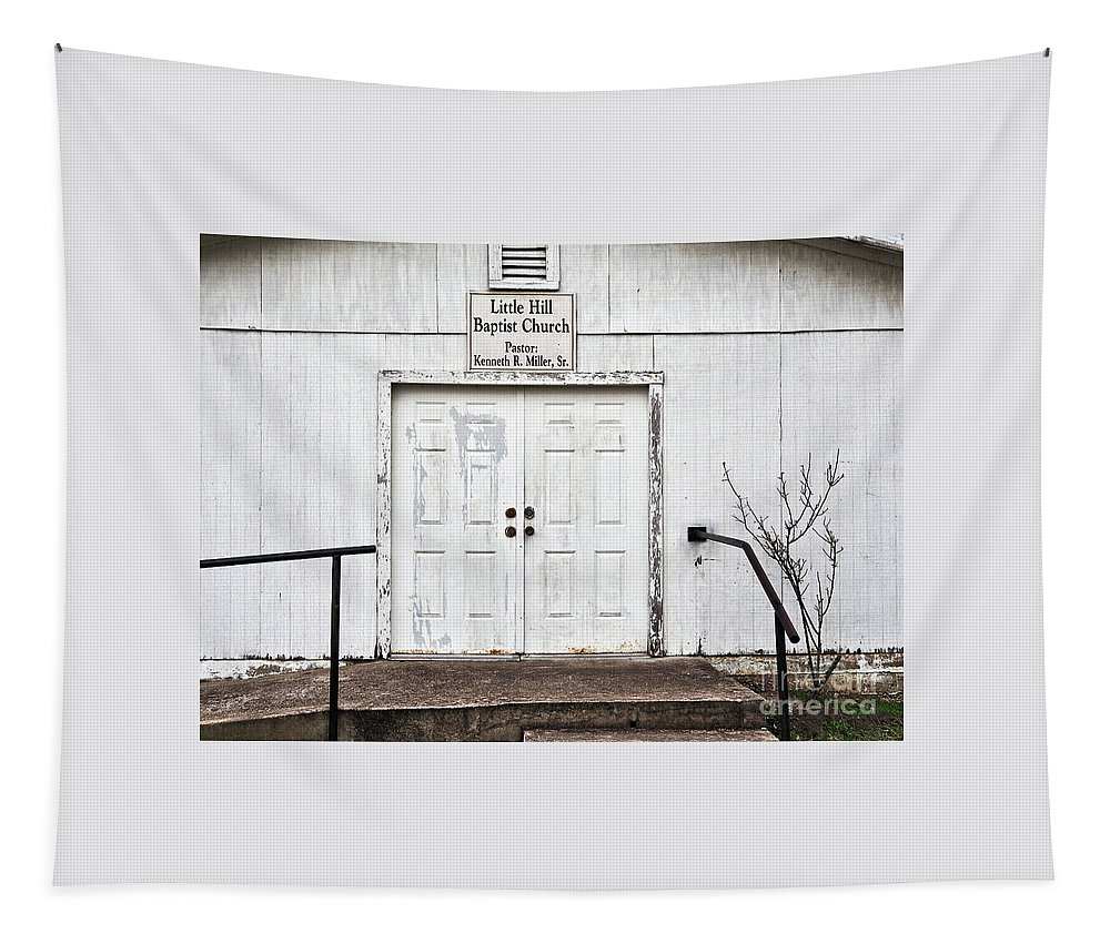 Little Hill Baptist Church Tapestry featuring the photograph Little Hill Baptist Church by Gary Richards