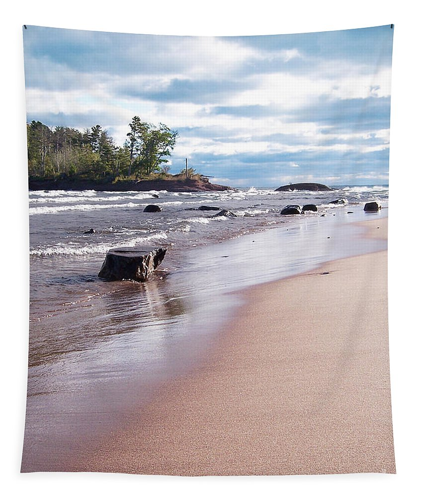 Photo Tapestry featuring the photograph Little Presque Isle by Phil Perkins