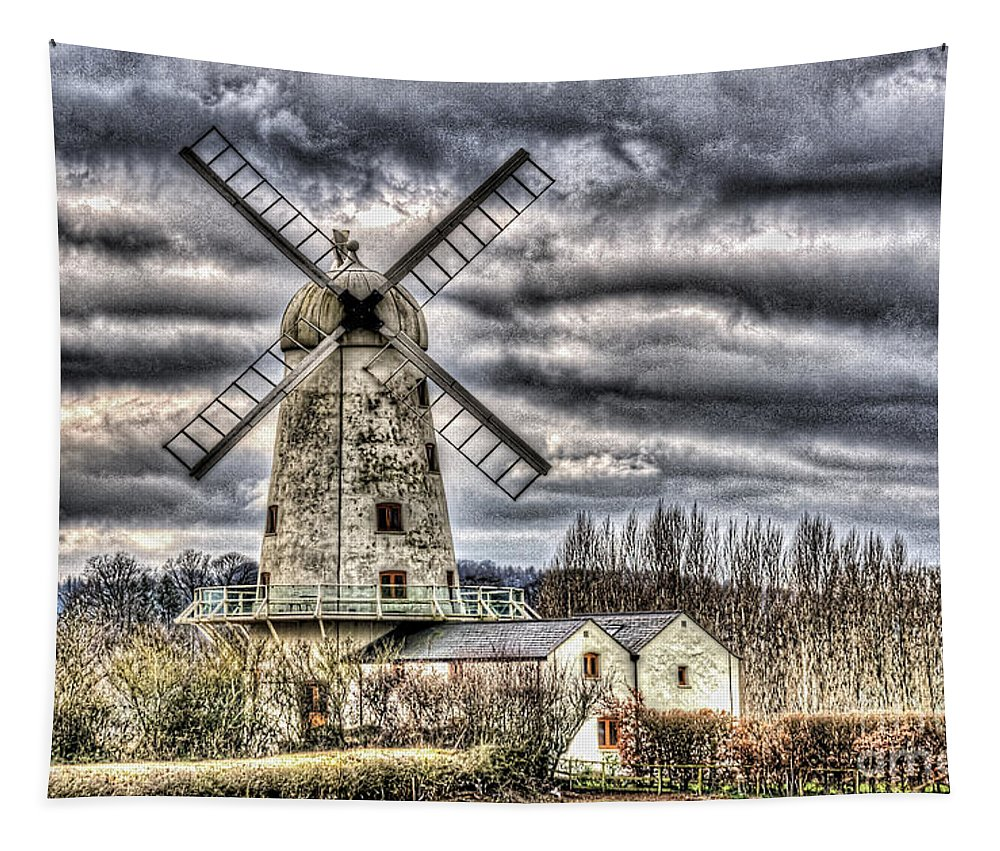 Llancayo Mill Tapestry featuring the photograph Llancayo Mill Usk 3 by Steve Purnell