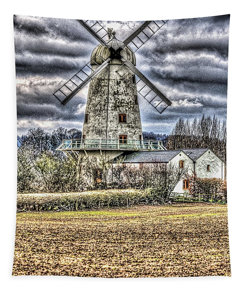 Llancayo Mill Tapestry featuring the photograph Llancayo Mill Usk 4 by Steve Purnell