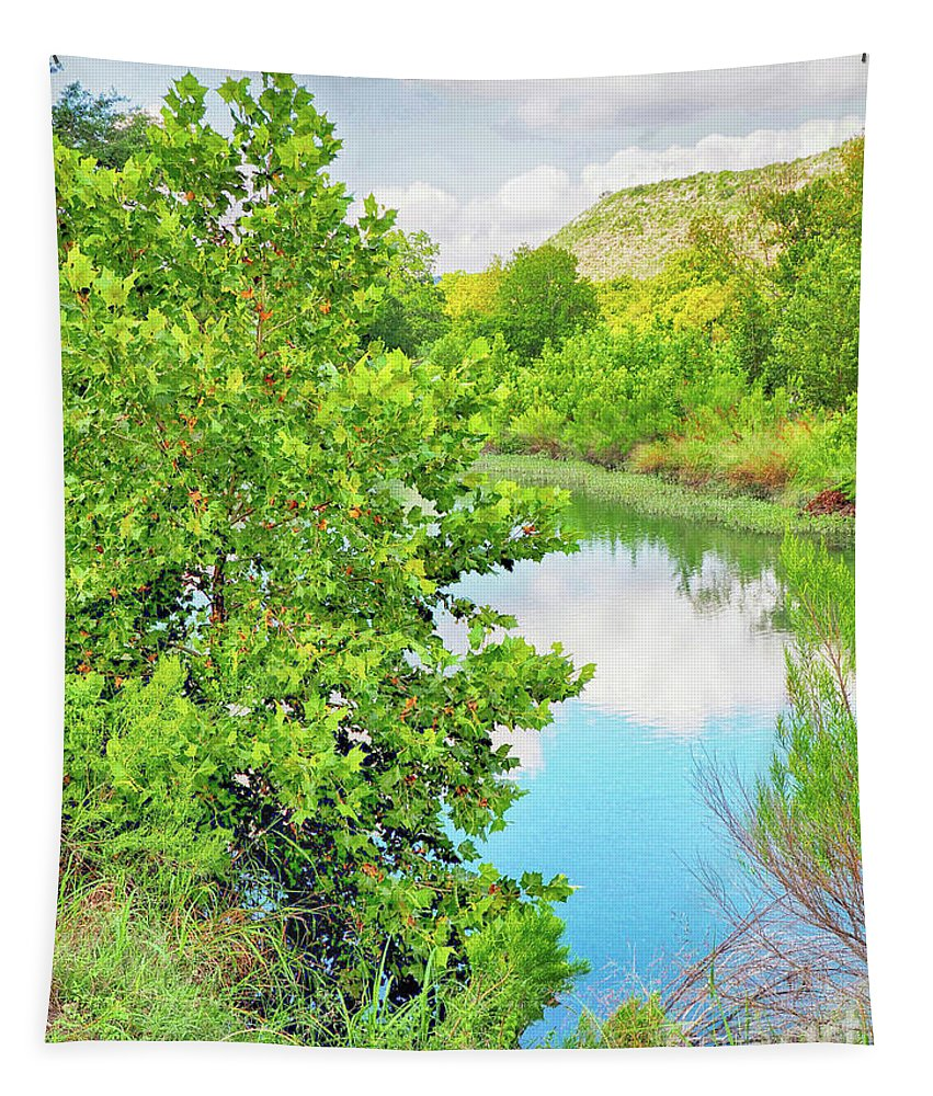 Llano River Tapestry featuring the photograph Llano River Scenic by Gary Richards