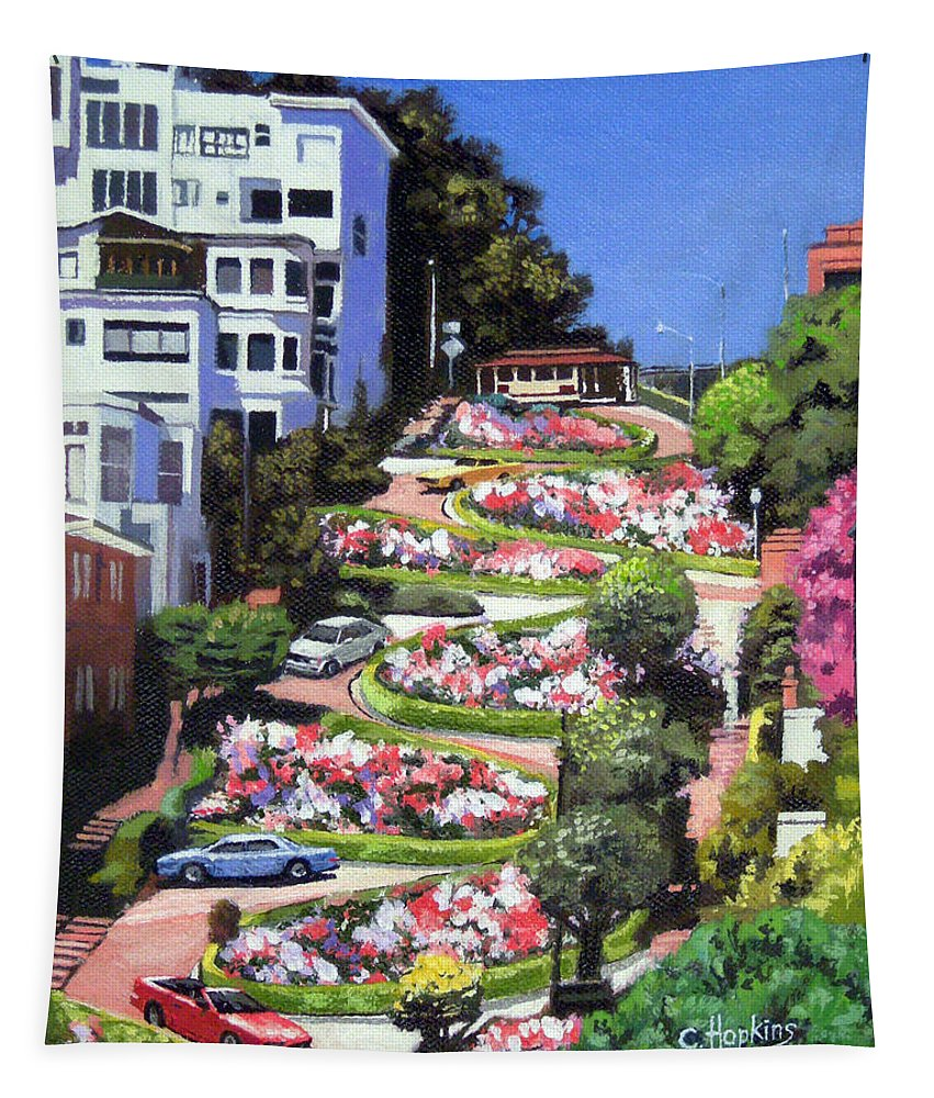Lombard Street San Francisco California Tapestry For Sale By Christine Hopkins
