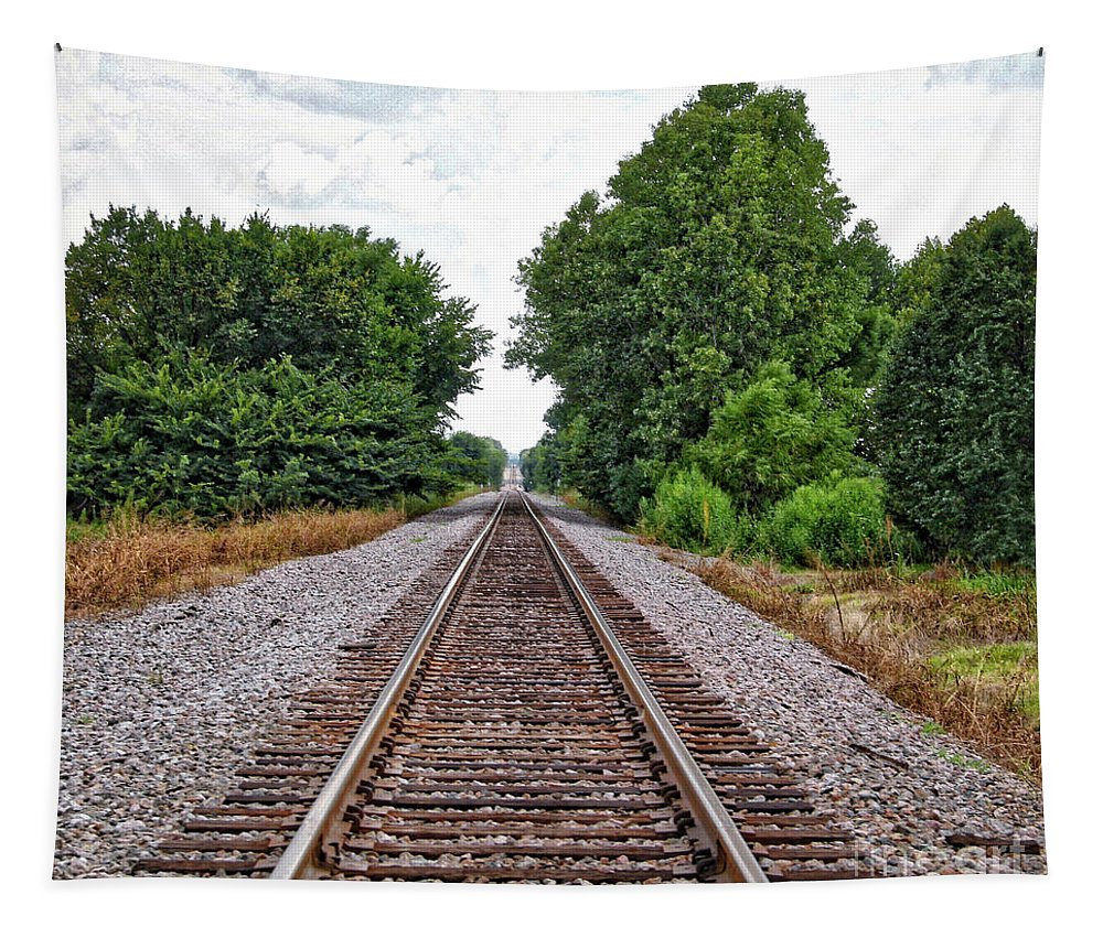 Railroad Track Tapestry featuring the photograph Lonely Track by Linda James