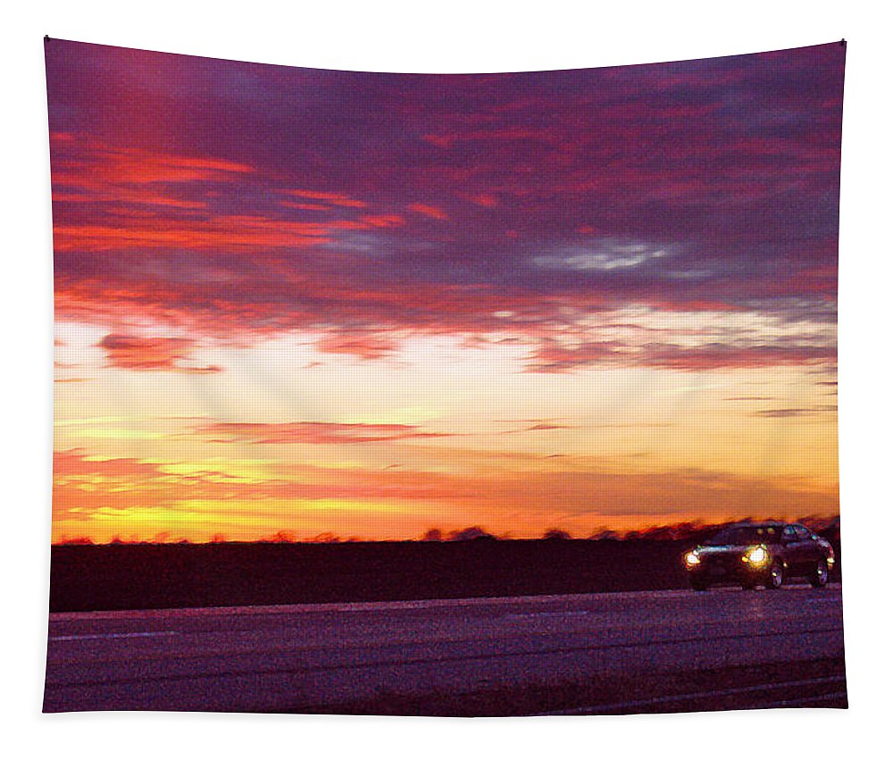 Landscape Tapestry featuring the photograph Lonesome Highway by Steve Karol