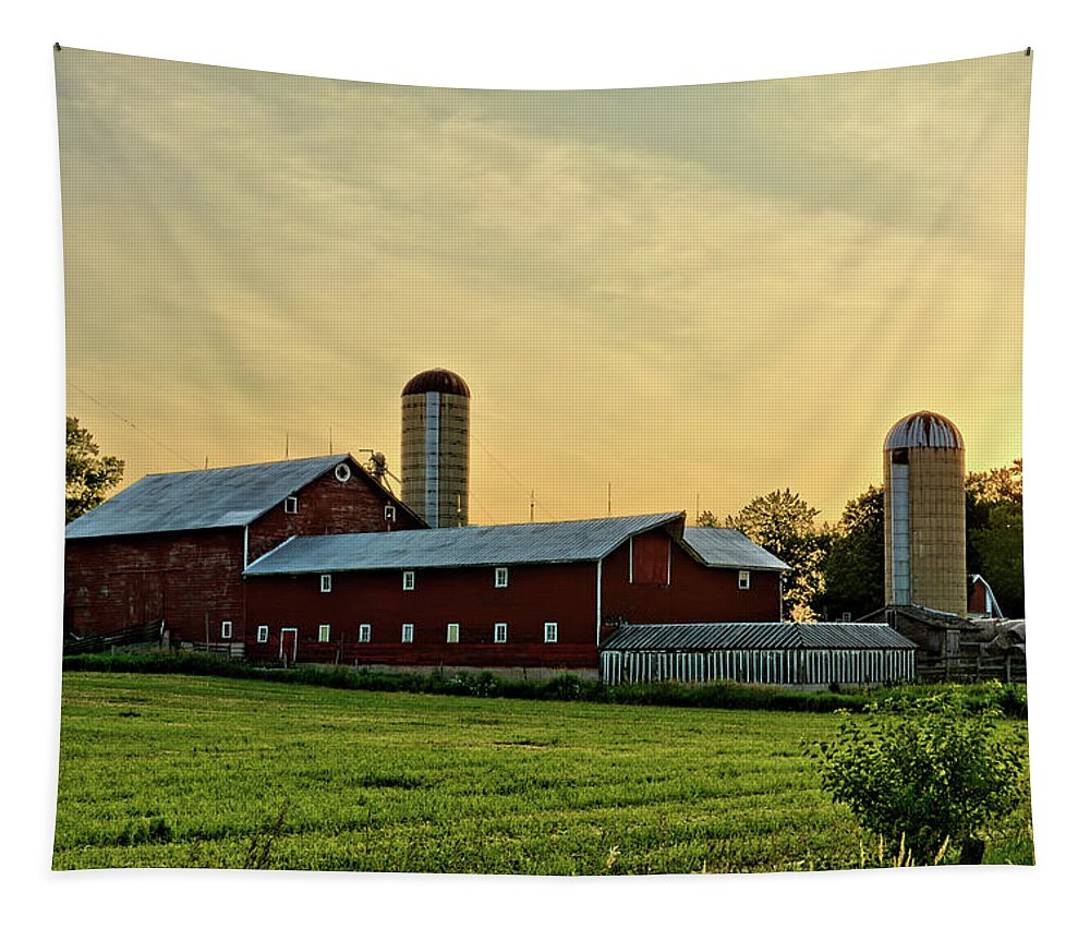 Barn Tapestry featuring the photograph Long Barn by Bonfire Photography