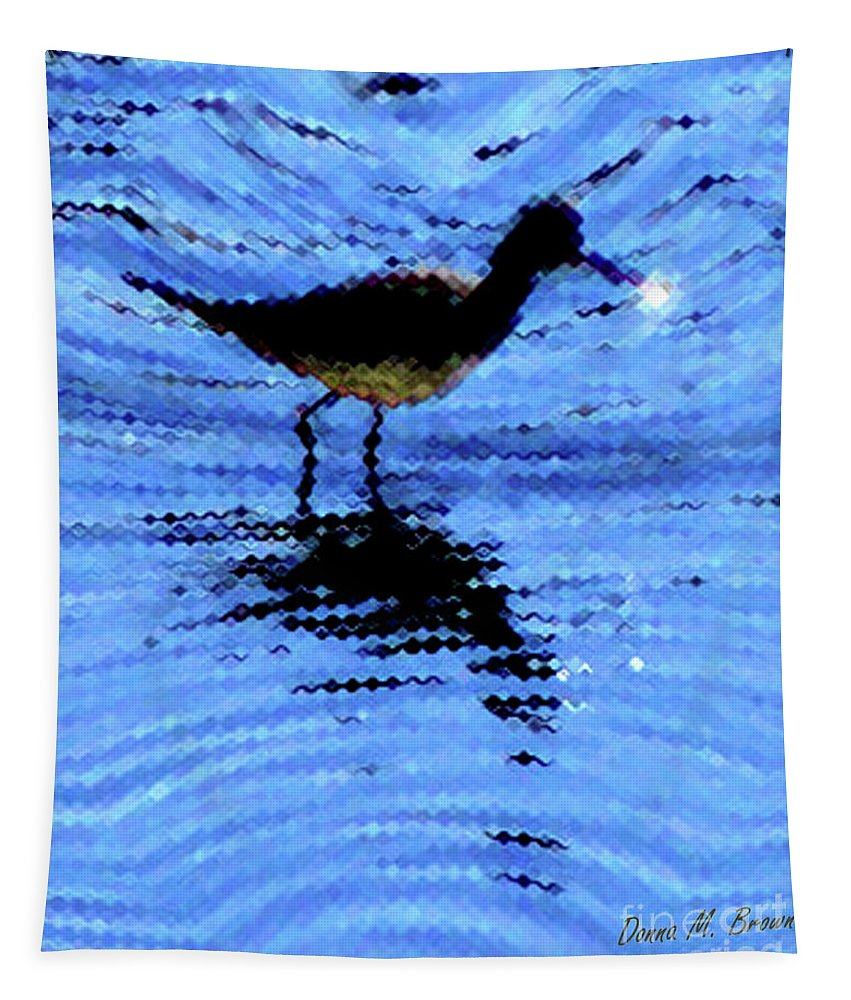 Bird Tapestry featuring the photograph Long-billed Diwitcher by Donna Brown