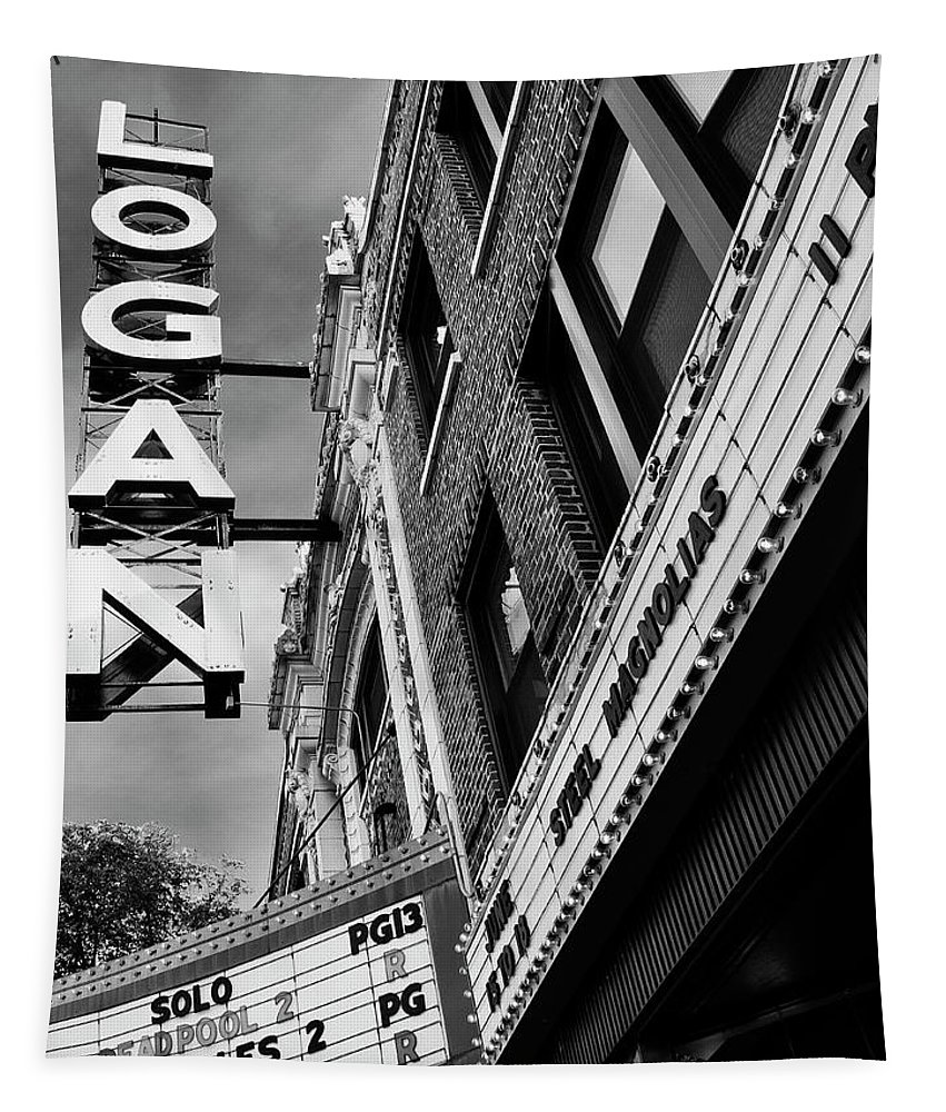Logan Tapestry featuring the photograph Long Live Logan Logan Theatre by William Dey