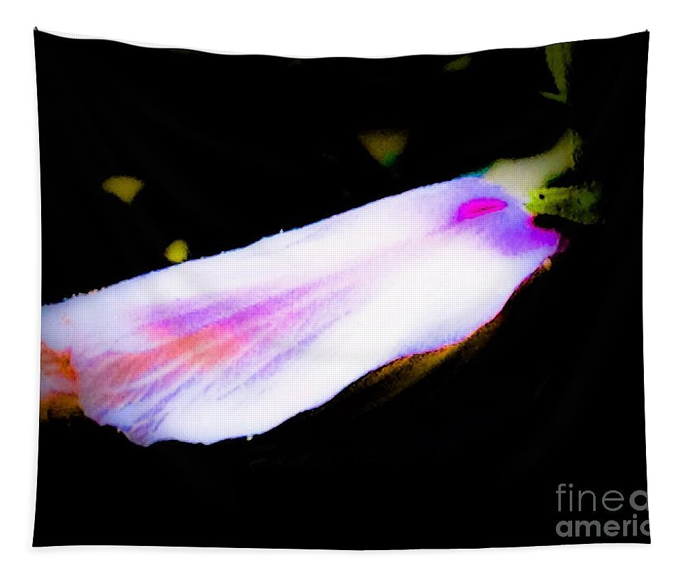 One Tapestry featuring the photograph Long Unopened Hibiscus Flower by Debra Lynch