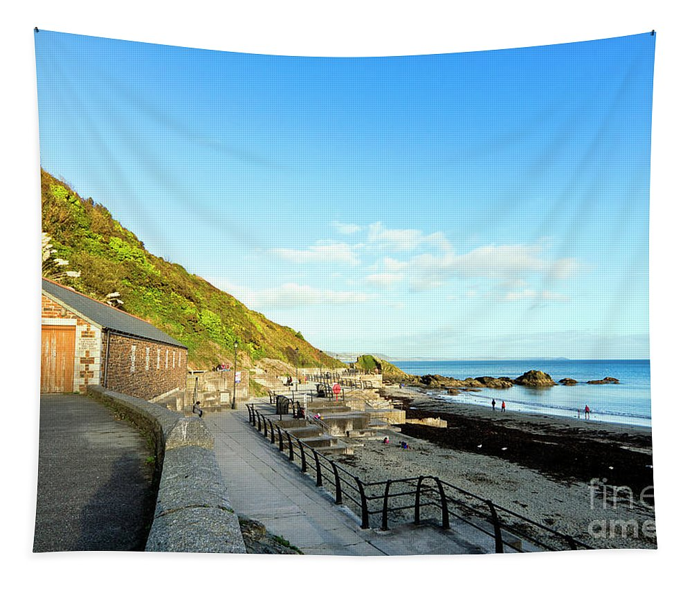 Looe Tapestry featuring the photograph Looe Boathouse by Terri Waters