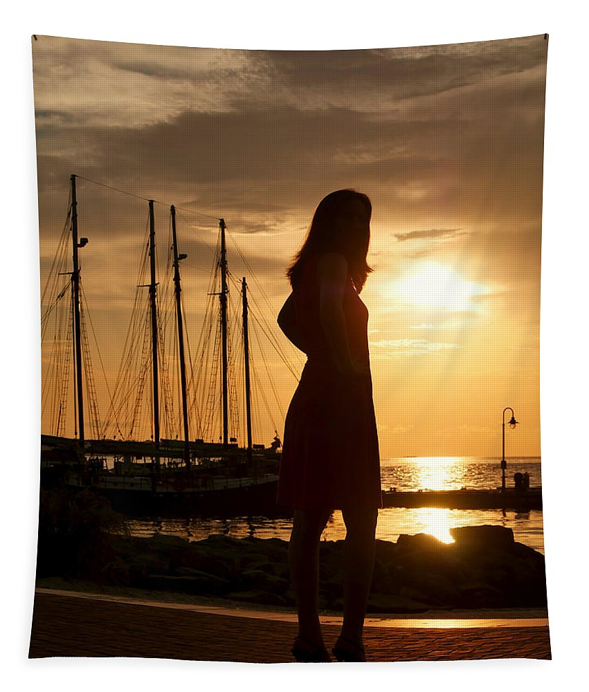 Woman Tapestry featuring the photograph Look by Rachel Morrison
