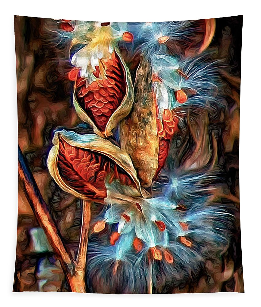 Milkweed Tapestry featuring the photograph Lord Of The Dance - Paint 2 by Steve Harrington